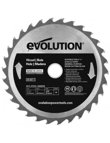 Panza circular lemn 210x25.4x2 30T...